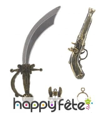 Accessoires et armes de pirate pour enfant