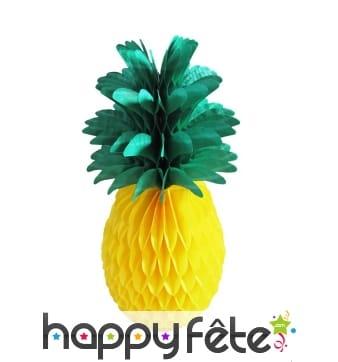 Ananas en papier alvéolé de 35cm