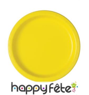 Assiettes jaunes en carton