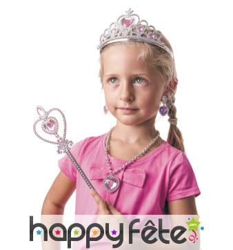 Accessoires rose de princesse pour enfant