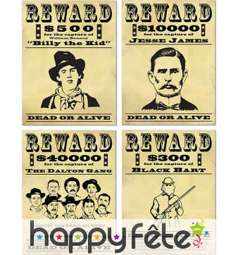 Affiches Reward Western