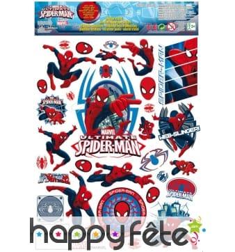 Autocollants Spiderman pour fenêtres, 30 x 20 cm
