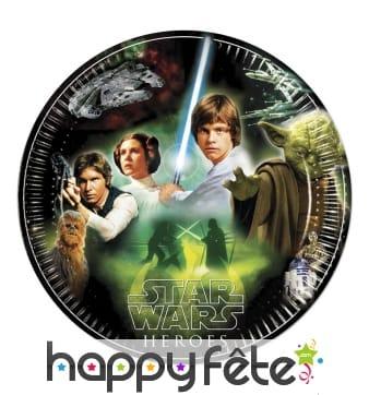 Assiettes Star Wars en carton