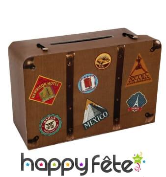 Ancienne valise de voyage en carton