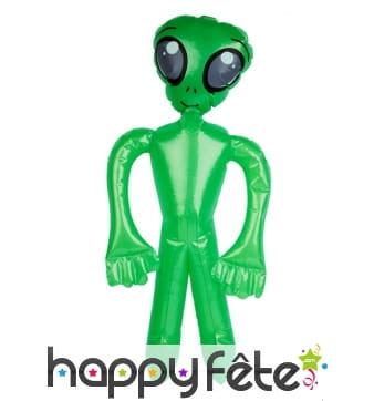 Alien vert gonflable de 73cm