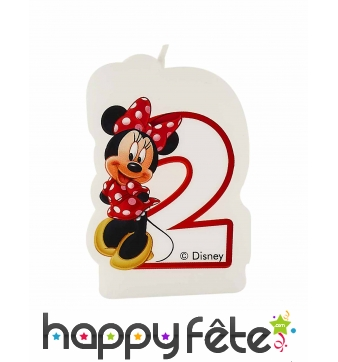 Bougie 2 ans Minnie Mouse