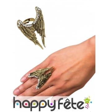 Bague ailes dorées