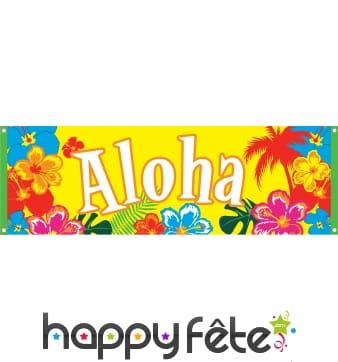 Bannière Aloha de 74 x 220cm