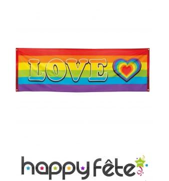 Banderole Arc-en-ciel Love de 74 x 220cm
