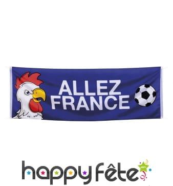 Bannière Allez France de 220 cm