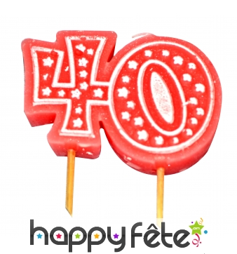 Bougie anniversaire forme n° 40