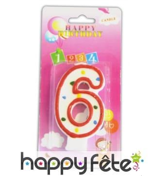 Bougie anniversaire forme n°6