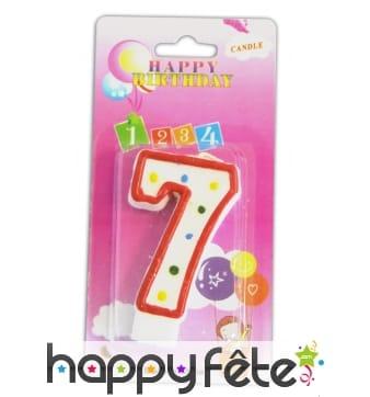 Bougie anniversaire forme n°7