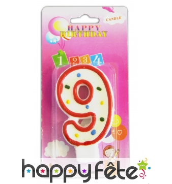 Bougie anniversaire forme n°9