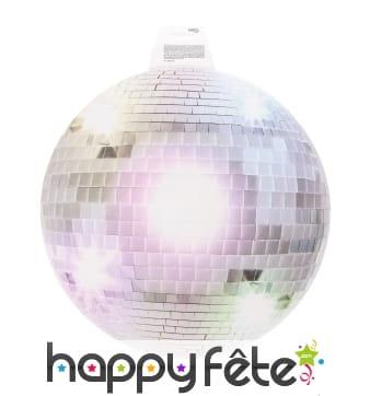 Boule à facette disco en carton plat de 34cm