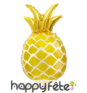 Ballon ananas gold de 67cm