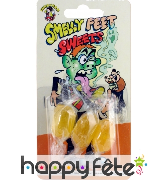 Bonbons au goût de pied qui pue
