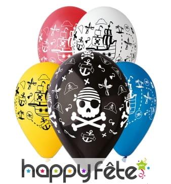 Ballons avec motifs pirates amusants
