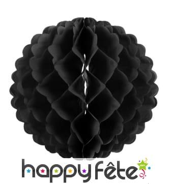 Boule alvéolée noire de 25cm