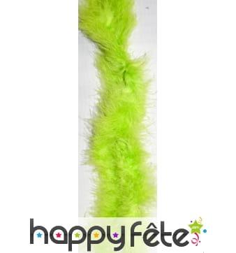 Boa à plumes vertes anis de 2 m