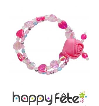 Bracelet avec petite rose pour enfant