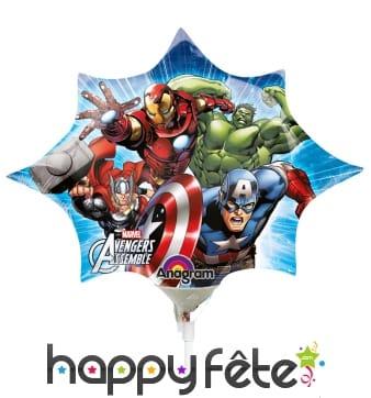 Ballon Avengers sur tige
