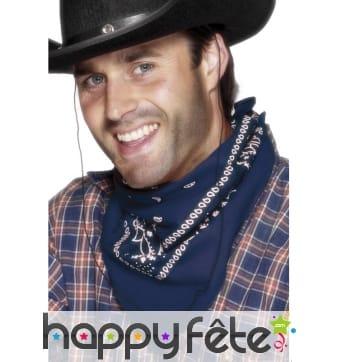 Bandana bleu cowboy