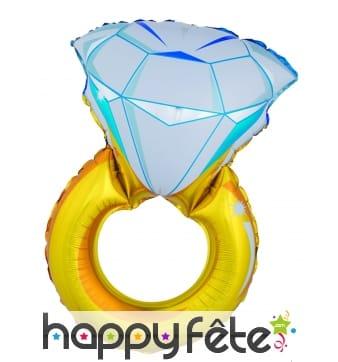 Ballon bague diamant géante de 105cm