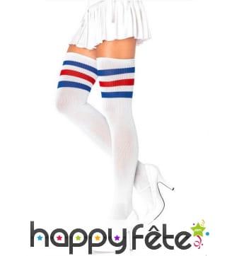 Bas blanc drapeau France