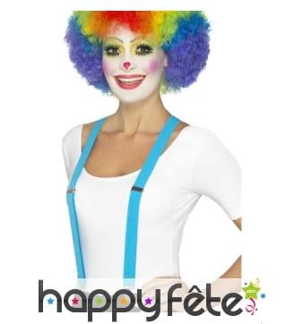 Bretelles bleue de clown