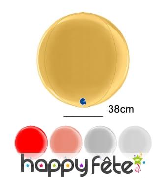 Ballon boule en mylar de 38cm