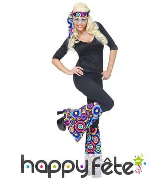 Bandeau bleu hippie avec jambières