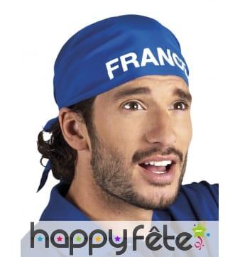 Bandana bleu imprimé France