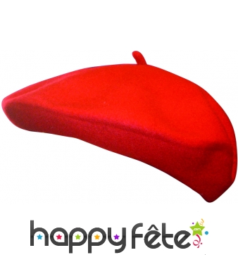 Beret basque rouge en laine