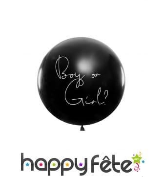Ballon baby shower avec confettis fille ou garcon