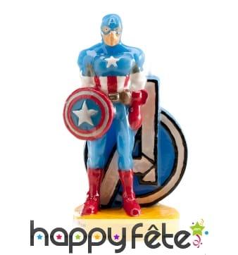 Bougie Captain América décorative