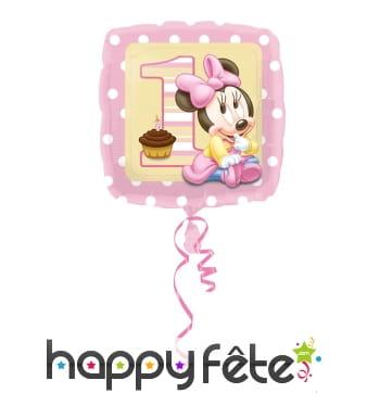 Ballon carré bébé Minnie Mouse