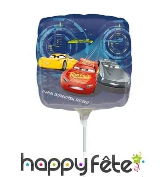 Ballon carré Cars de 23 cm
