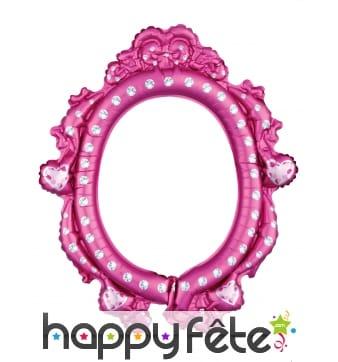 Ballon cadre de Princesses Disney rose, 53x63 cm