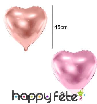 Ballon coeur de 45 cm en aluminium