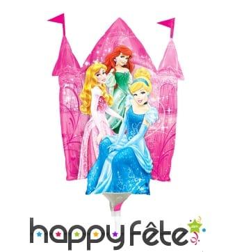 Ballon château et princesses Disney, sur tige