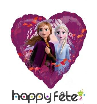 Ballon coeur Elsa et Anna La Reine des Neiges 2