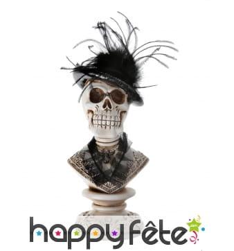 Buste crâne gothique de 27 cm