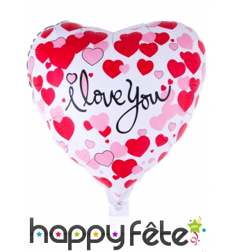 Ballon coeur I love you de 52cm
