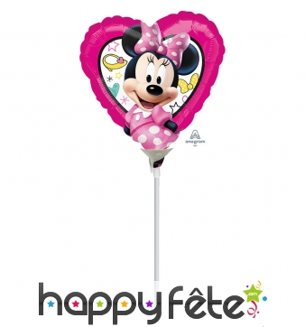 Ballon coeur Minnie de 23 cm