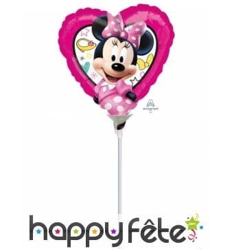 Ballon coeur Minnie Mouse de 23 cm