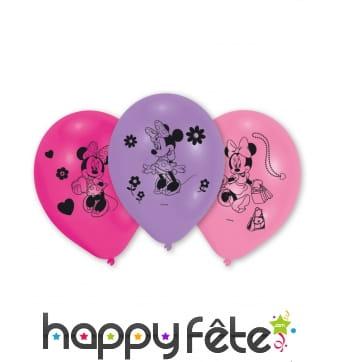 Ballons colorés Minnie Mouse, par 10