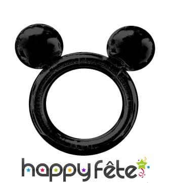 Ballon cadre noir tête de Mickey ronde, 68 x 63 cm