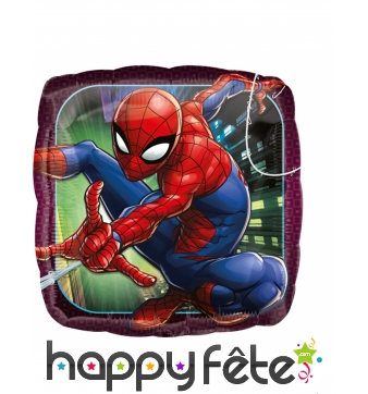 Ballon carré Spiderman de 43cm