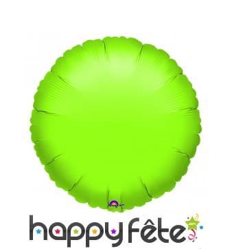 Ballon citron vert rond en alu de 45cm